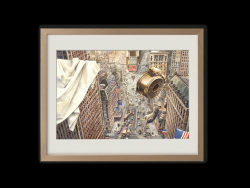 Torben Kuhlmann Mäuseabenteuer Armstrong Kunstdruck Times Square
