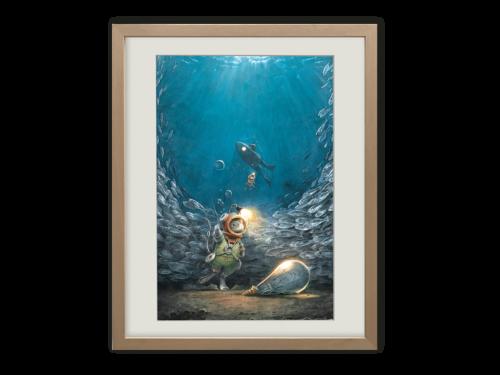 Torben Kuhlmann Mäuseabenteuer Edison Kunstdruck Auf dem Meeresgrund