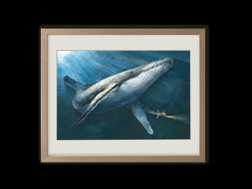 Torben Kuhlmann Mäuseabenteuer Edison Kunstdruck Das Singen des Wals