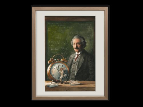 Torben Kuhlmann Mäuseabenteuer Einstein Kunstdruck