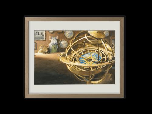 Torben Kuhlmann Mäuseabenteuer Einstein Kunstdruck Astronomische Uhr