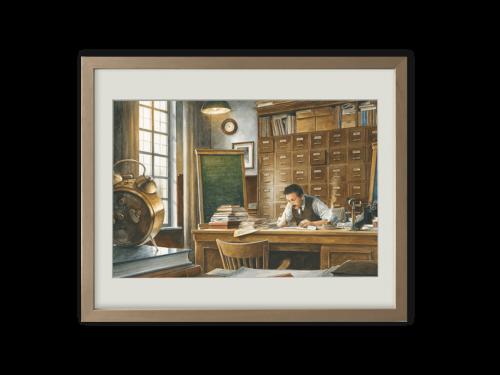 Torben Kuhlmann Mäuseabenteuer Einstein Kunstdruck Einsteins Relativitätstheorie